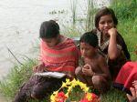 Children watching the rites